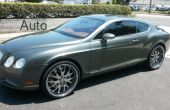 18327, 2004 Bentley Continental GT V12 twin turbo AWD on 22x10 3piece chrome wheels
