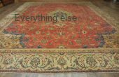 18323, 9x12 FT - 1880's Genuine Handmade Persian Sarouk Serapi Rug Carpet